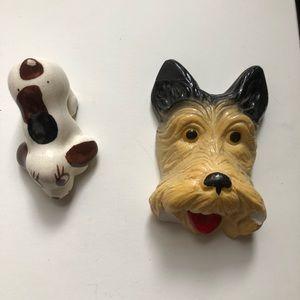 2 Vintage Dog Figurines